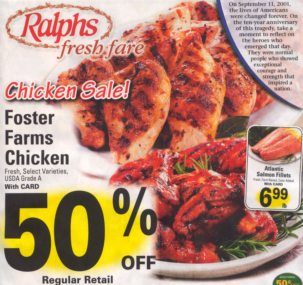 Ralphs Chicken Advertisement Flyer