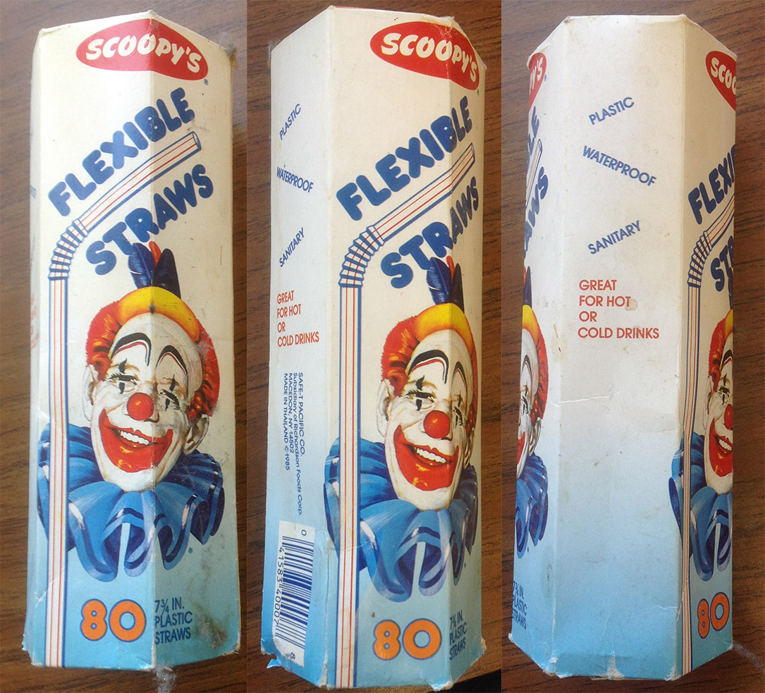 Scoopy's Deeply Creepy Clown Straws Contain Multitudes – Things