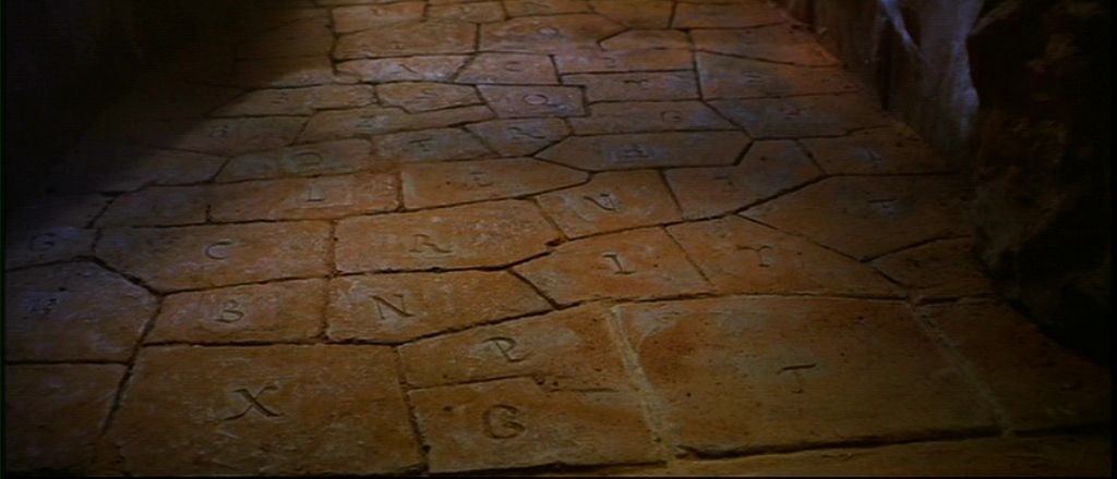 The floor in one of the rooms from Indiana Jones and the Last Crusade